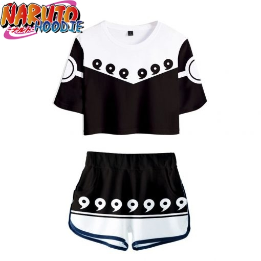 naruto crop top and shorts sage of six paths s white prix 1