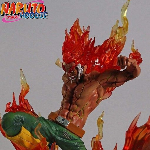 naruto figure might guy 8 gates statue with box 1 1
