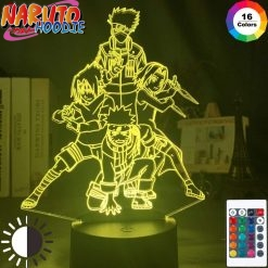 naruto lamp team kakashi 16 color with remote pas chers 1