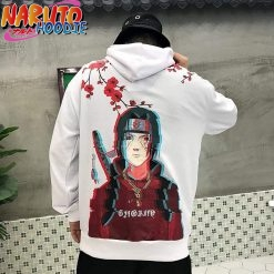 naruto streetwear itachi hoodie limited edition black s pas chers 2