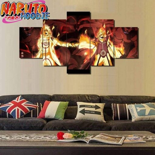naruto wall art father son extra large with frame pas chers
