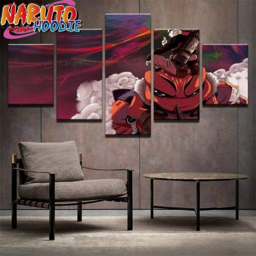 naruto wall art gamabunta extra large with frame pas chers 1