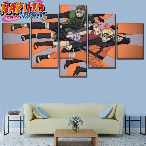naruto wall art yamato team extra large with frame pas chers 1